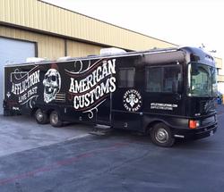 american customs fleet bus wrap