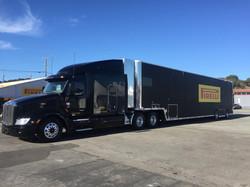 commercial fleet semi truck wrap