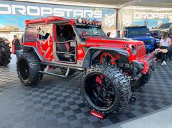 custom jeep rubicon wrap red