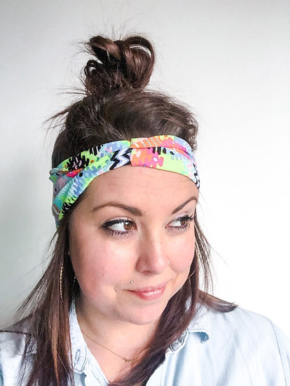 Neon Aztec Headband