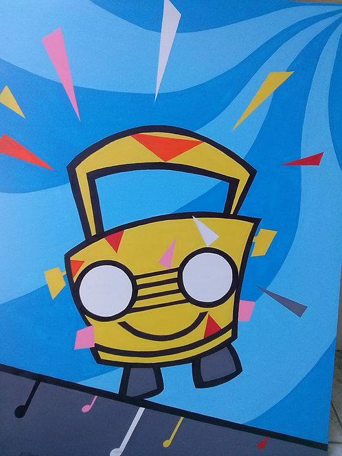 Tela Carro amarelo