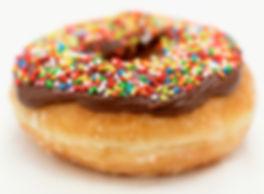 Donut mit Schokolade Frosting
