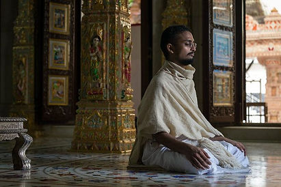 A young monk in Meditation, that is Culture and Heritage of India