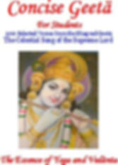 Cover oage of Concise Geeta, that is culture and heritage of India