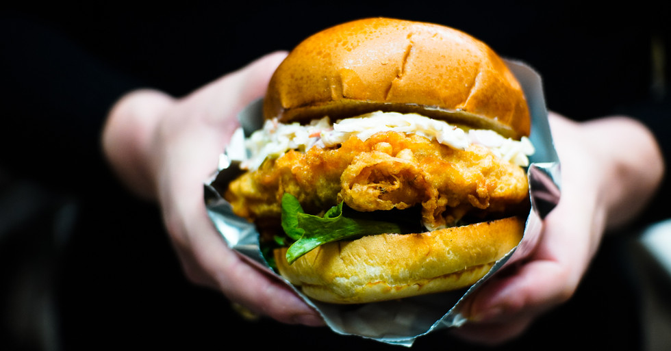 Battered Chicken Burger