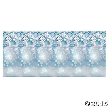 Snowflake Giant 9 Ft x 6 Ft Wall Backdrop