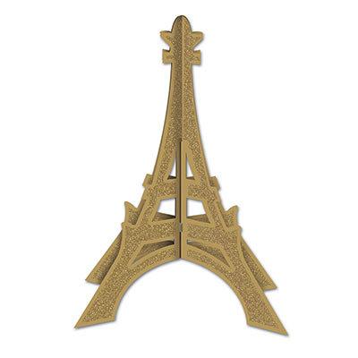 3D Glittered Eiffel Tower Centerpiece