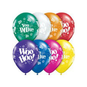 Woo Hoo! Assorted Colour Latex Balloons - 50 Pk