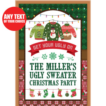 Ugly Sweater Personalized Giant Door Sign