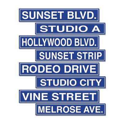 Hollywood Sign Cutouts 4 Pk