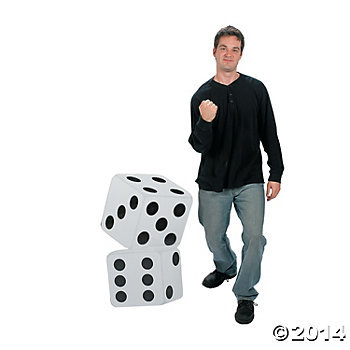 Casino Dice 3 Ft. Stand-Up