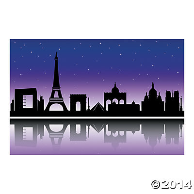 Paris City of Paris Backdrop 9x6 Feet