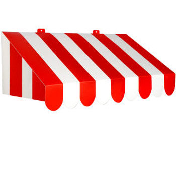 Red & White 63.5cm 3D Awning