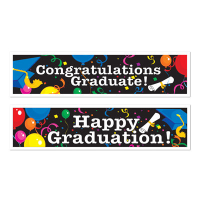 Graduation Deluxe 5ft Banners - 2pk
