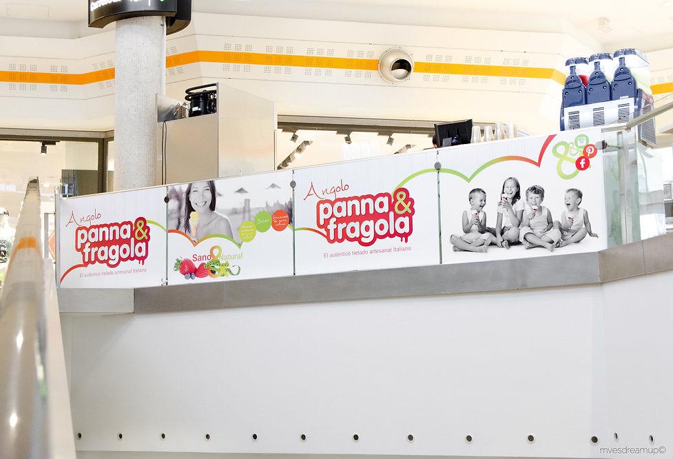 Cartelería para Panna&Fragola Angolo