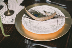 Peacock Feather Table Setting