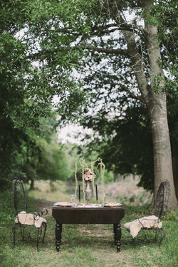 Boho Table with Chairs