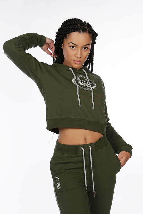 Cropped Hooded Jumper