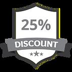 25% Discount Grey