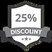 25%のディスカウントグレー