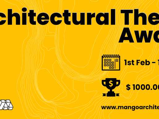 Architectural Thesis Award-2021 is back again with more to win!