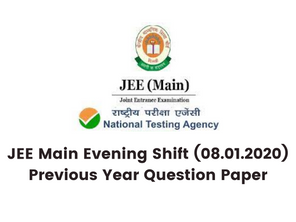 JEE Main Evening Shift (08.01.2020) Previous Year Question Paper