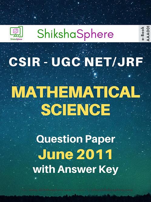 CSIR - UGC NET/JRF Mathematical Science Question Paper - June 2011