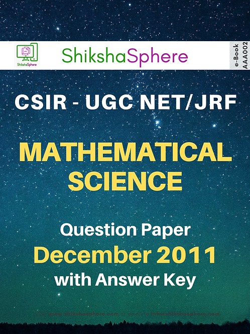 CSIR - UGC NET/JRF Mathematical Science Question Paper - December 2011