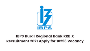 IBPS Rural Regional Bank RRB X Recruitment 2021 Apply for 10293 Vacancy