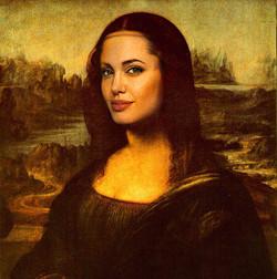 Mona Lisa Angelina Jolie