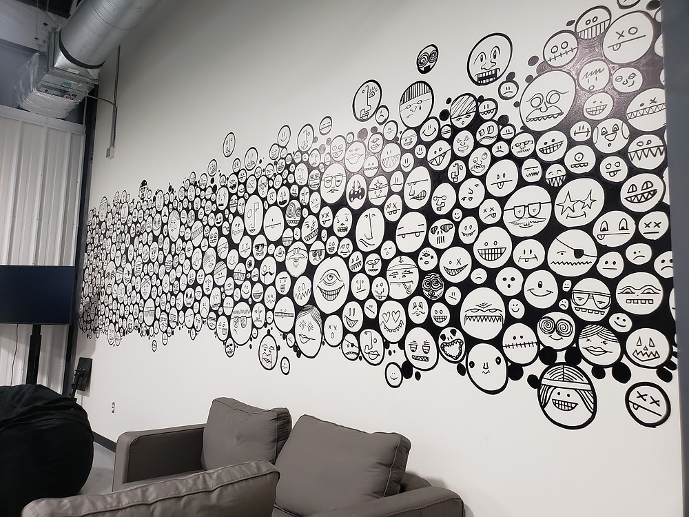 Facebook Office Wall