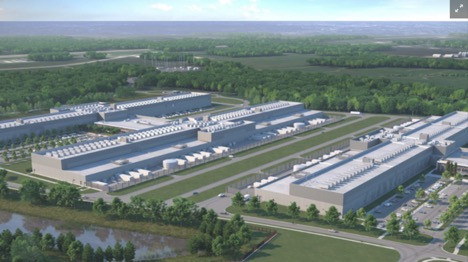 Facebook data center New Albany Ohio