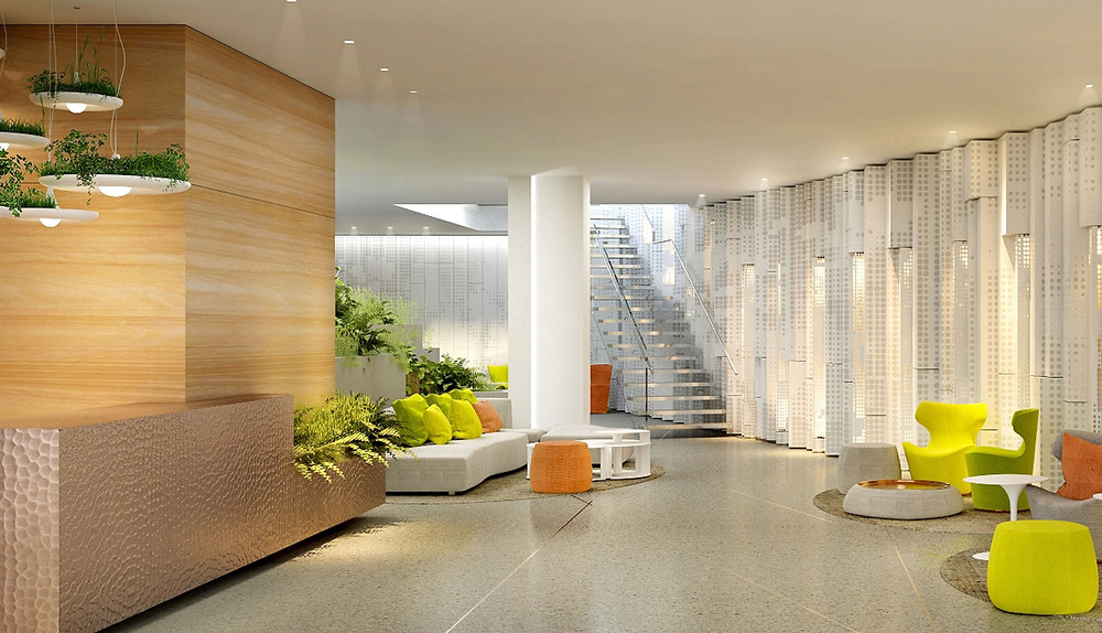 Lobby of West Half Residences