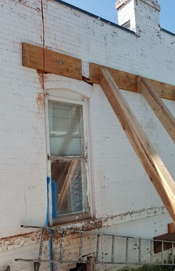 BEFORE: bracing outer wall