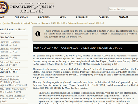923. 18 U.S.C. § 371—Conspiracy to Defraud the United States