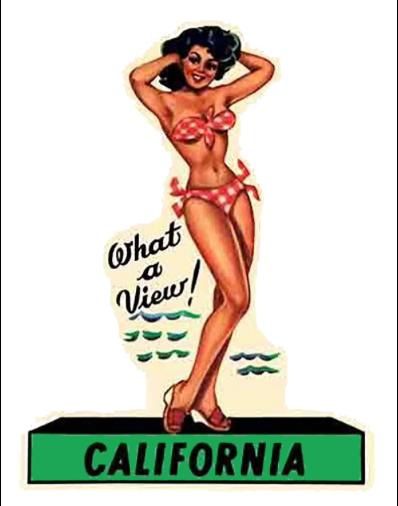 Sticker PIN-UP CALIFORNIA