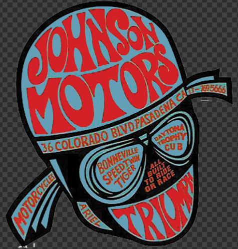 Sticker JOHNSON MOTORS TRIUMPH