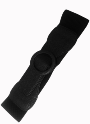Ceinture Banned Clothing Ladys Day Out Round Buckle Belt Noir