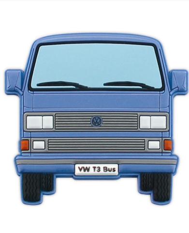 VW T3 Combi Aimant en caoutchouc - Bleu