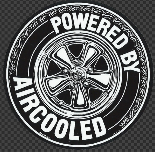 Sticker POWERED BY AIRCOOLED