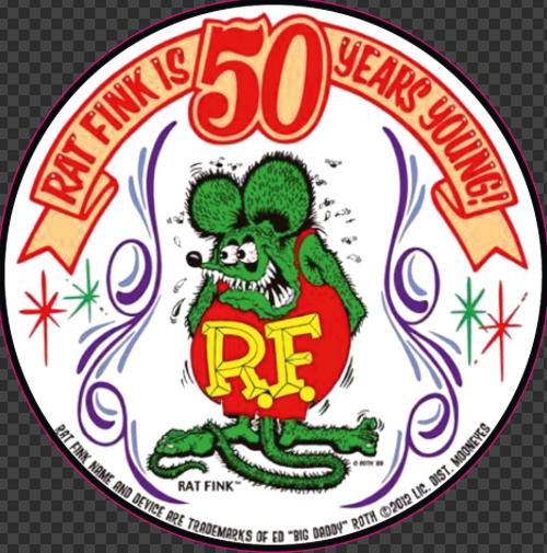 Sticker RAT FINK Is 50 yeards