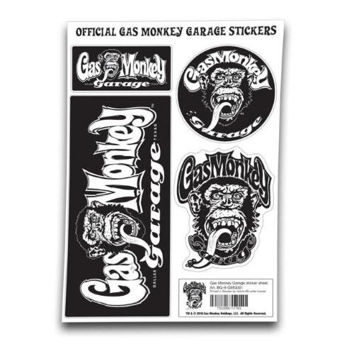 Set de 4 stickers GAS MONKEY GARAGE
