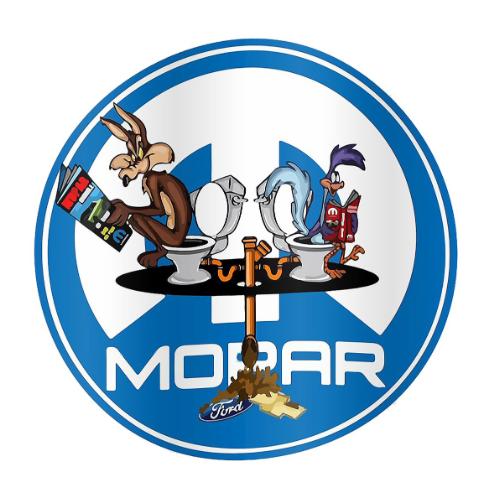 """Sticker MOPAR """"Beep & le Coyote """""""