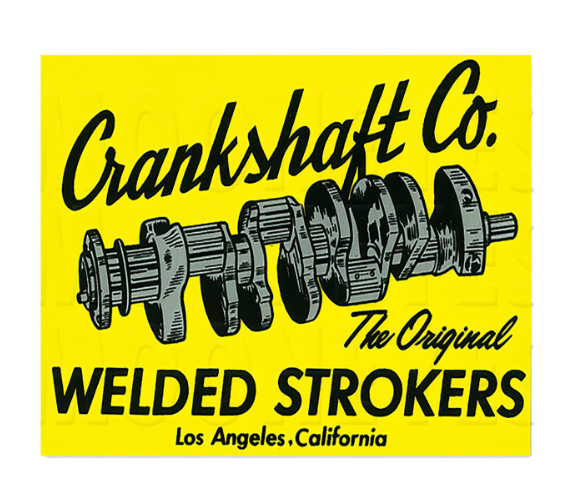 Sticker CRANKSHAFT CO