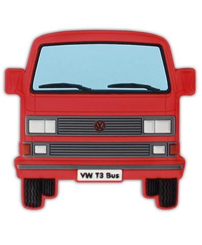 VW T3 Combi Aimant en caoutchouc - Rouge