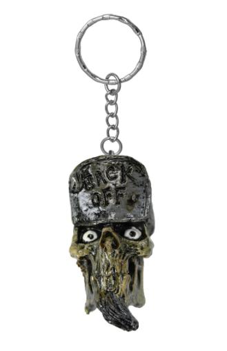 Porte-clés 3D Back Off Skull Head