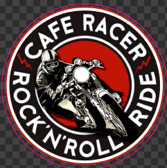 Sticker Café Racer  ROCK'N'ROLL RIDE