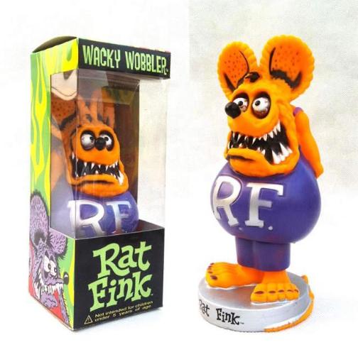 "Figurine RAT FINK ""Tête Orange  """