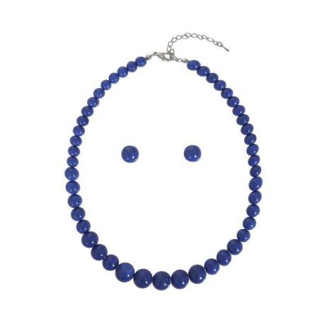 Parure Collier & Boucles d'oreilles en perle , Rockabilly , Vintage , Pin-Up