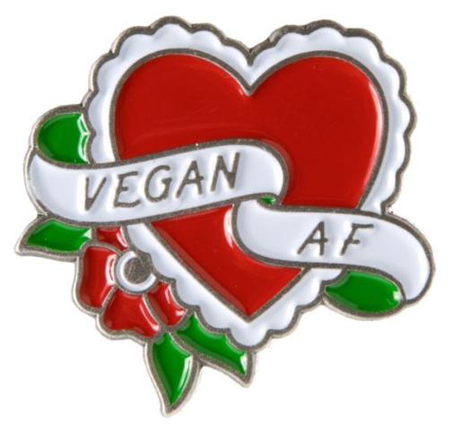 Pin's  Vegan AF Sourpuss